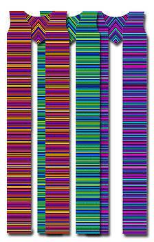 Latin American Stripes Cotton Clergy Stole by Julie Rodriguez Jones