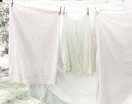 Laundry on the Line in Pink and Green by Brooke Ryan