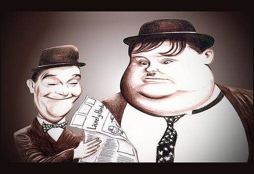 Laurel and Hardy Illustration by Diego Abelenda