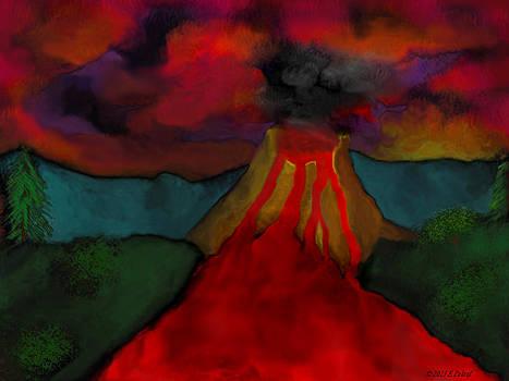 Lava Flow by Elizabeth S Zulauf