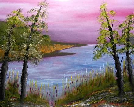 Lavenders Eve by John Minarcik