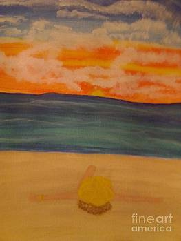 Laying on the Beach by Erica  Darknell
