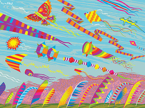 Kites and Kite Banners by John Rose