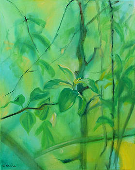 Leaf Moon  June by Ethel Vrana