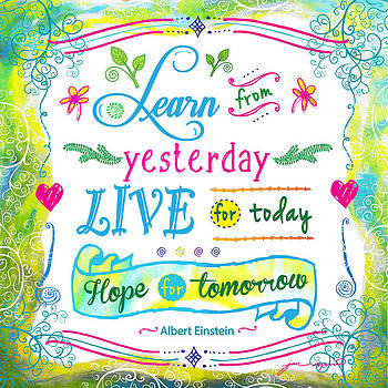 Learn from Yesterday Live for Today by Jan Marvin by Jan Marvin