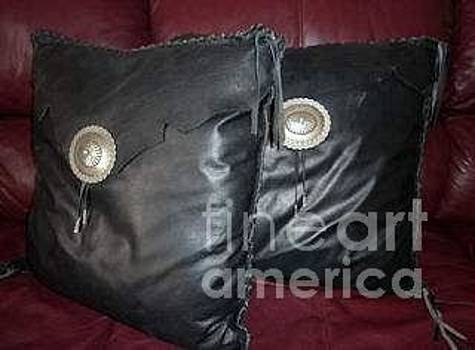Leather Pillows/set by Yvonne Cacy