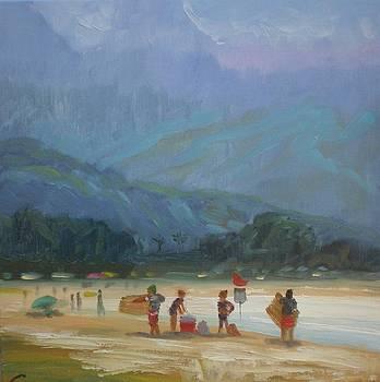 Leaving The Beach by Elena Sokolova