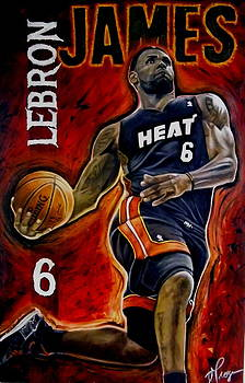 Lebron James Oil Painting-Original by Dan Troyer