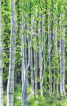 Lee Vining trees by Mark Jennings