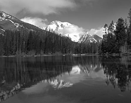 Leigh Lake BW by David Yunker
