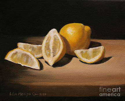 Lemon Still Life by Lisa Phillips Owens