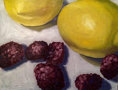 Lemons and Blackberries by Velma Serrano