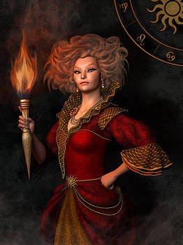 Leo zodiac sign by Britta Glodde