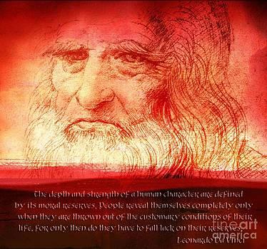 Leonardo Da Vinci Quote  by Theodora Brown