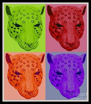 Gail Matthews - Leopard Collage in Neon