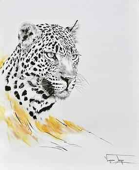 Leopard Potrait by Vanessa Lomas