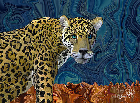 Leopard with the Sky in his Eyes by Sherin  Hylan