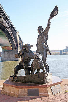 Lewis And Clark Return To St Louis by Al Blount