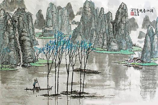 Li River in Spring by Yufeng Wang