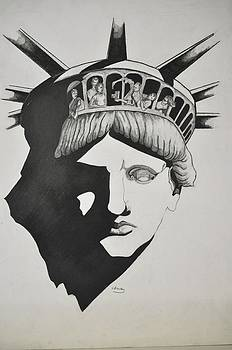 Liberty Head with people by Glenn Calloway