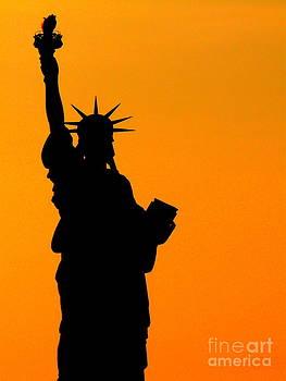 Liberty in Orange by Avis  Noelle