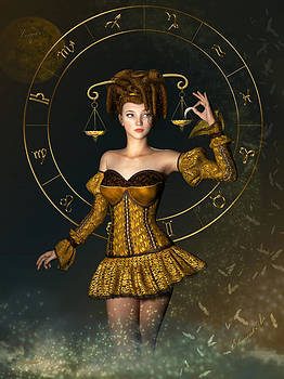 Libra Zodiac Sign by Britta Glodde