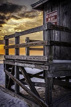 Lifeguard Tower at Sunset by Edward Khutoretskiy