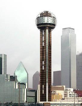Lifting Fog On Dallas Texas by Robert Frederick