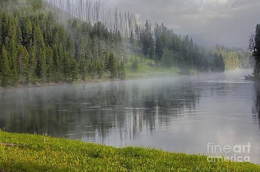 Sandra Bronstein - Lifting Fog on the Yellowstone River