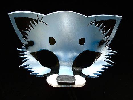Light Blue Metallic Fox by Fibi Bell
