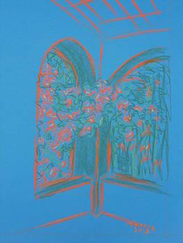 Light Blue Patio by Marcia Meade