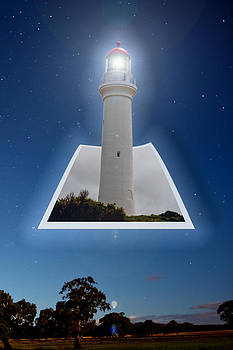 Light house in the sky by Patrick OConnell