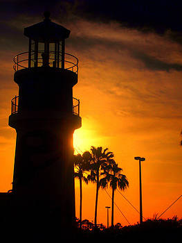 Light Tower Sunset by Patrick Lombard