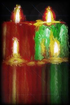Steve Ohlsen - Lighted Christmas Candles - Topaz