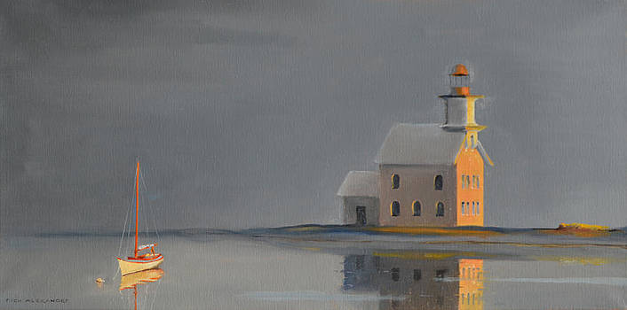 Lighthouse and Boat  by Rich Alexander