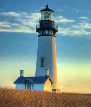 Lighthouse At Dusk by J Morgan Massey
