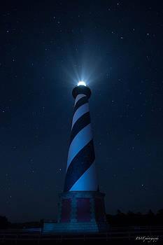Lighthouse in Stars by Paul Treseler