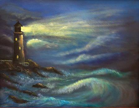 Lighthouse lights by Bozena Zajaczkowska