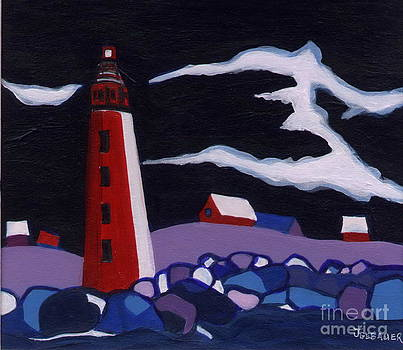 Lighthouse miniature by Joyce Gebauer