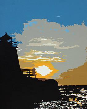 Lighthouse Sunset by Dennis Nadeau