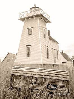 Edward Fielding - Lighthouse with Lobster Trap PEI