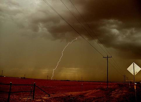 Lightning Strike in Oil Country by Ed Sweeney