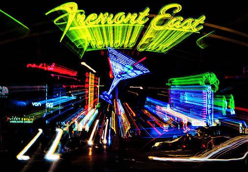 Lights of Fremont Street by Arnold Despi