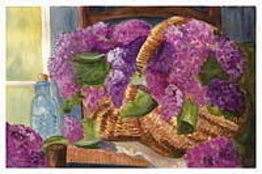 Anne-Elizabeth Whiteway - Lilac Delights in Basket