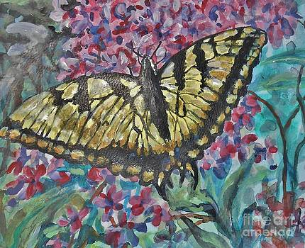 Lilacs and Swallowtail by Emily Michaud