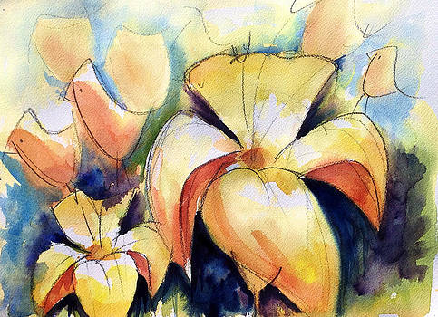Lillys with Birds by Andrew Fling