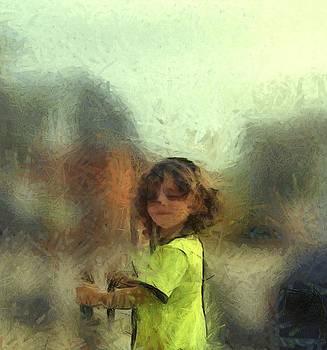 Lime Chalk Figure Little Boy Custom Portrait Commission by MendyZ
