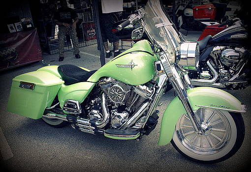 Laurie Perry - Lime Sherbert Harley
