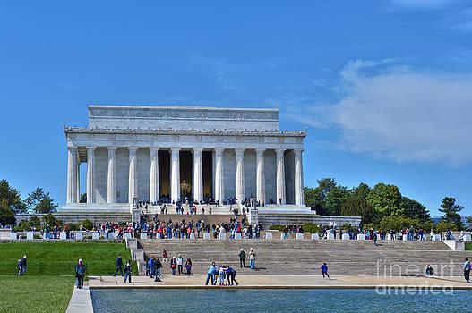 David  Zanzinger - Lincoln Memorial Reflecting Pond National Mall Washington DC