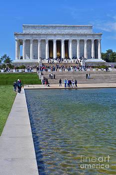 David  Zanzinger - Lincoln Memorial reflecting Pond Washington DC Vertical